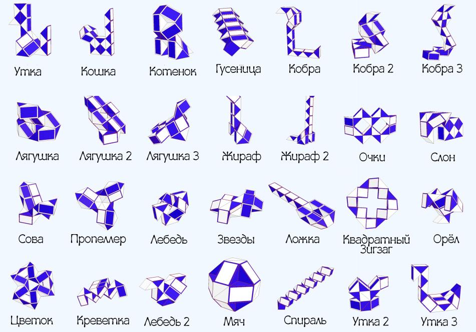 Пошаговая инструкция змейка рубика